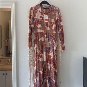 Zara paisley maxi dress